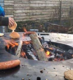 Bakplaatring voor barbecue en grill